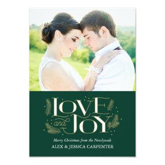 Cartes photos de Noël de nouveaux mariés d'amour