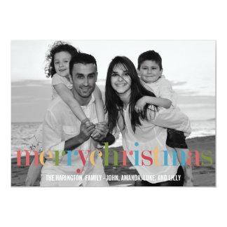 Cartes photos de vacances d'ARC-EN-CIEL Carton D'invitation 12,7 Cm X 17,78 Cm