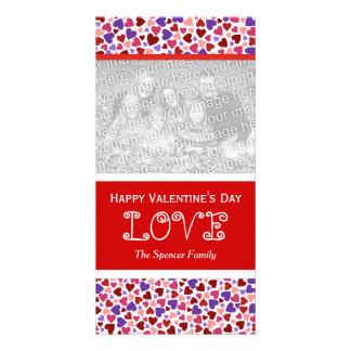 Cartes photos de verticale d'amour de Valentine
