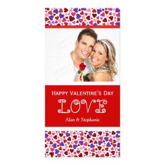 Cartes photos de verticale d'amour de Valentine Photocartes