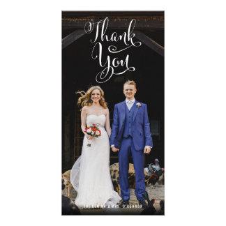 Cartes photos décontractés de Merci de mariage