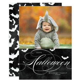 Cartes photos éffrayants de Halloween de batte Carton D'invitation 12,7 Cm X 17,78 Cm