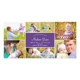 Cartes photos élégants de faire-part de naissance cartes avec photo