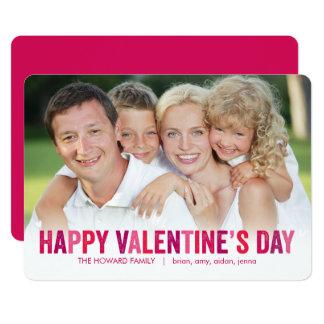 Cartes photos gais de Saint-Valentin de nuances