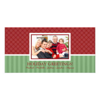 Cartes photos modernes de famille de Noël de style Photocarte Customisée