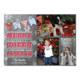 Cartes photos rustiques d'étamine de Noël