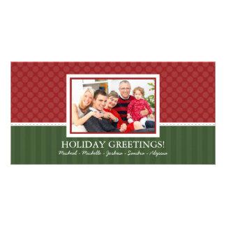 Cartes photos simples de famille de Noël de style Photocartes