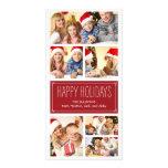Cartes photos simples de vacances de collage carte avec photo