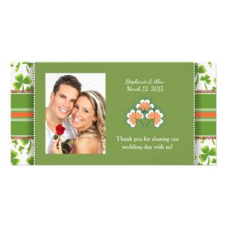 Cartes photos verts chanceux de Merci de mariage Photocartes Personnalisées