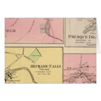 Cartes Pi Fairfield, île de Presque, caribou