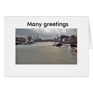 Cartes PICT0052 5X5, beaucoup de salutations, beaucoup de