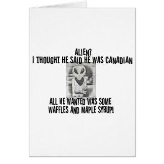 Cartes Pièce en t d'alien d'Albert