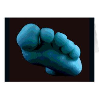 Cartes Pied bleu