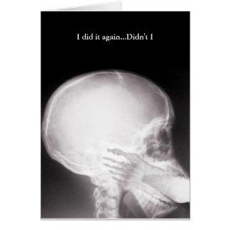 Cartes Pied dans des excuses de rayon X de bouche