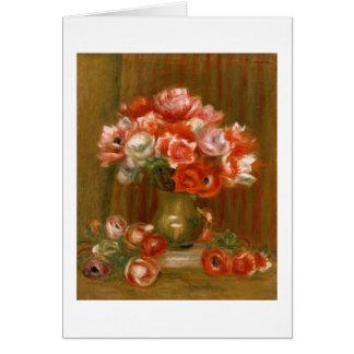 Cartes Pierre anémones de Renoir un  