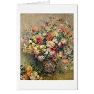 Cartes Pierre dahlias de Renoir un |