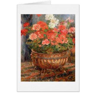 Cartes Pierre géraniums de Renoir un | dans un bassin de