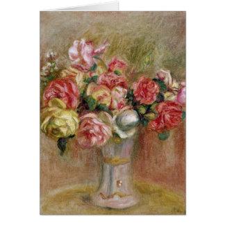 Cartes Pierre roses de Renoir un | dans un vase à Sevres