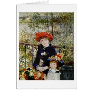 Cartes Pierre un Renoir | deux soeurs, ou sur la terrasse