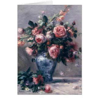 Cartes Pierre un vase à Renoir | de roses
