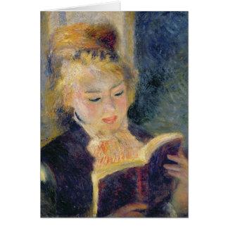 Cartes Pierre une lecture de fille de Renoir |