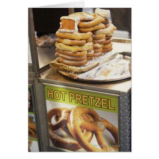 Cartes Pile de bretzels à une stalle