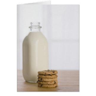 Cartes Pile de lait de gâteaux aux pépites de chocolat