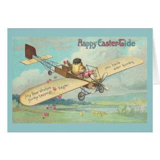 Cartes Pilote vintage de poussin d'amende heureuse de