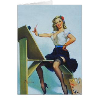 Cartes Pin classique des années 1950 d'Elvgren vers le