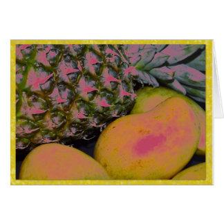 Cartes Pinapples et mangues
