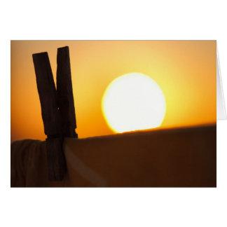 Cartes Pince à linge au lever de soleil