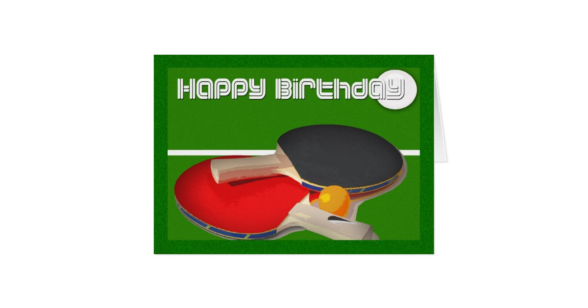 Cartes ping pong de ping pong de sport d 39 anniversaire for Table 0 5 ans portneuf