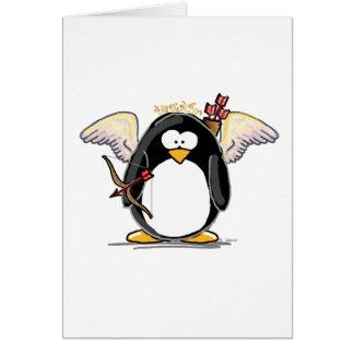 Cartes Pingouin de cupidon