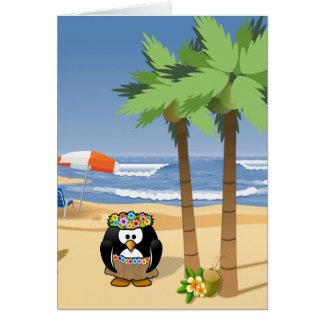 Cartes Pingouin de danse polynésienne sur l'illustration