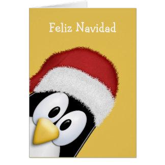 Cartes Pingouin mignon de Feliz Navidad
