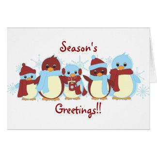 Cartes Pingouins autour