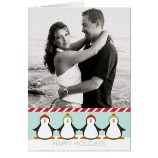 Cartes Pingouins d'hiver