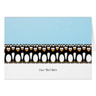 Cartes Pingouins drôles de bande dessinée
