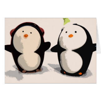 Cartes Pingouins joyeux