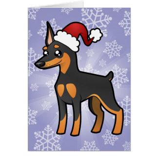 Cartes Pinscher miniature de Noël/Manchester Terrier