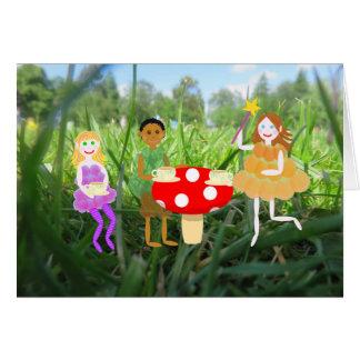 Cartes Pique-nique féerique de champignon