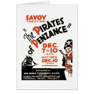 Cartes Pirates de Penzance WPA 1938