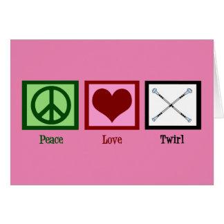 Cartes Pirouette d'amour de paix