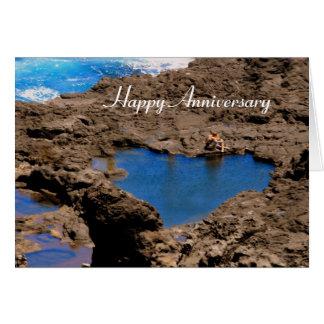 Cartes Piscine en forme de coeur de marée d'océan, Maui,