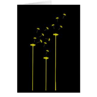 Cartes Pissenlit jaune