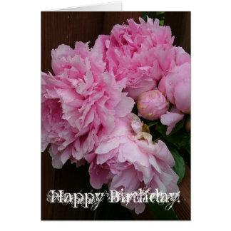 Cartes Pivoine de joyeux anniversaire
