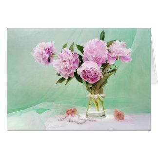 Cartes Pivoines roses