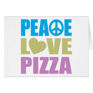 Cartes Pizza d'amour de paix