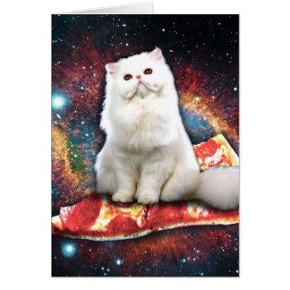 Cartes Pizza de chat de l'espace