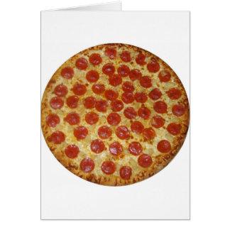 Cartes Pizza de pepperoni délicieuse de pizza…